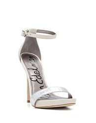 Sam Edelman Eleanor White Leather Stilettos Ivory Silver