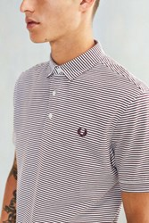 Fred Perry Striped Jersey Polo Shirt Ivory