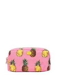 Dolce And Gabbana Pineapples Print Nylon Cosmetic Bag