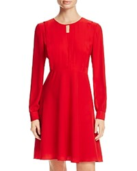 Finity Front Keyhole A Line Dress Red