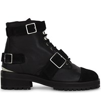The Kooples Lace Up Leather Ankle Boots Bla01