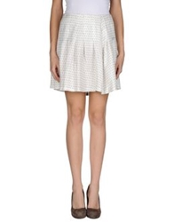 Band Of Outsiders Mini Skirts White