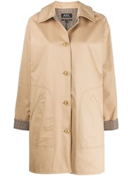 A.P.C. Cozba Coat Brown