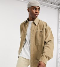 Reclaimed Vintage Oversized Cord Shirt In Stone