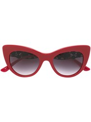 Dolce And Gabbana Lace Bouquet Sunglasses Red