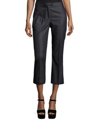 Nanette Nanette Lepore Chalk Stripe Denim Cropped Pants Indigo