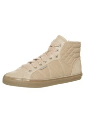 Esprit Sophy Quilt Hightop Trainers Beige