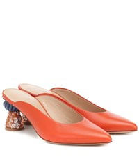 Jacquemus Les Mules Maceio Leather Mules Orange