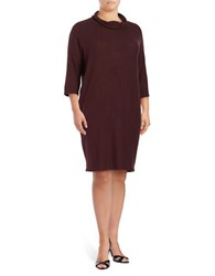 B Collection By Bobeau Plus Solid Turtle Neck Sheath Dress Purple
