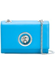 Versus Lion Plaque Crossbody Bag Blue