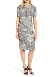 Boss Women's Haraly Floral Jacquard Sheath Dress
