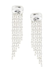 Alberta Ferretti Crystal Drop Earring Metallic