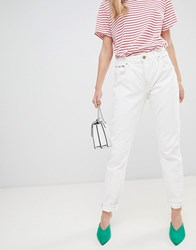 Pepe Jeans High Rise Violet Mom Jean White