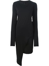 Barbara I Gongini Asymmetric Fitted Dress Black