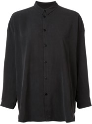 Toogood Mandarin Collar Shirt Black