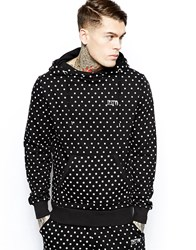 Systvm Hoodie In Polka Dot Star Print Black