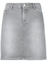 Helmut Lang Vintage Short Denim Skirt Grey