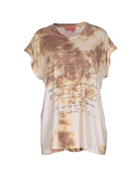 Manila Grace Denim Topwear T Shirts Women Sand
