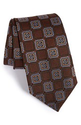 Men's J.Z. Richards Medallion Silk Tie Brown