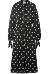 Nanushka Zahara Polka Dot Chiffon Dress Black