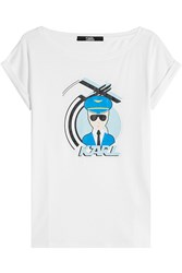Karl Lagerfeld Printed T Shirt With Cotton