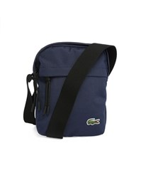 Lacoste Navy Small Format Fabric Shoulder Bag