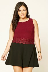 Forever 21 Plus Size Crochet Panel Romper