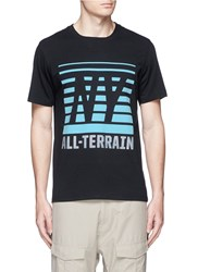 Icny 'All Terrain' Reflective Print T Shirt Black