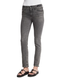 Helmut Lang Skinny Denim Ankle Jeans Light Gray