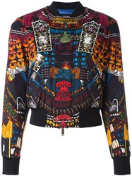 Dsquared2 'Samurai' Print Bomber Jacket Black