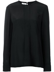 Barba Round Neck Blouse Black