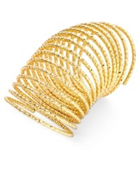Thalia Sodi Gold Tone Long Textured Coil Statement Ring Only At Macy's