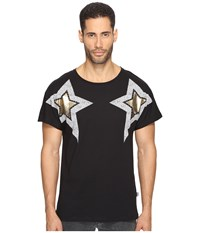 Just Cavalli Start Printed T Shirt Black