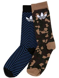 Adidas Logo And Camo Thin Crew Socks