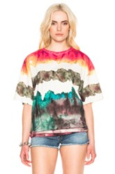 Acne Studios Olga Oil 2 Pack Tee In Abstract Green Ombre And Tie Dye Red Abstract Green Ombre And Tie Dye Red