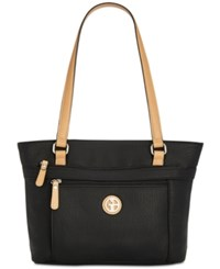 Giani Bernini Pebble Medium Tote Created For Macy's Black