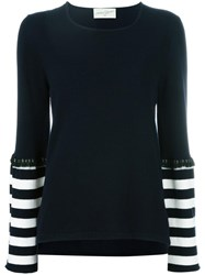 Antonia Zander Striped Detail Jumper Black