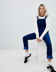 Lee Dungaree In Corduroy Indigo Blue