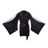 G Love Lingerie Bare Me A Second Black Nippon Dressing Gown