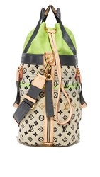 Wgaca Louis Vuitton Canvas Gypsy Bag Previously Owned Green