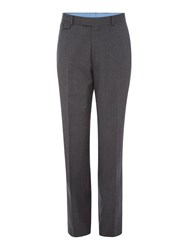 Chester Barrie Men's Flannel Trousers Charcoal