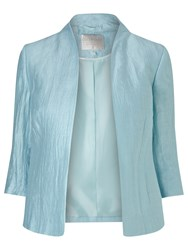 Windsmoor Crinkle Open Front Jacket Blue