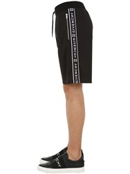 Givenchy Jersey Shorts W Logo Side Bands Black