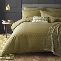 Niki Jones Concentric Duvet Cover Chartreuse Yellow