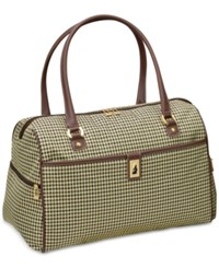 London Fog Oxford Hyperlight 19 Grand Satchel Only At Macy's Olive Houndstooth