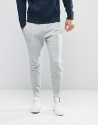 Abercrombie And Fitch Cuffed Joggers Moose Logo Embroidery In Grey Grey