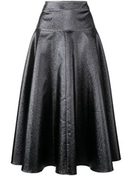 Osman Flared Midi Skirt Blue