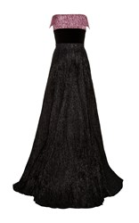 Alex Perry Pierce Strapless Cuff Gown Black