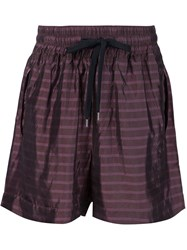 Andrea Pompilio 'Pilot' Shorts Pink And Purple