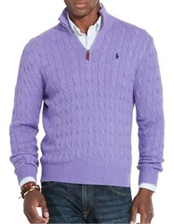 Polo Ralph Lauren Cable Knit Mockneck Sweater Saffire Purple